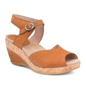 Dansko Charlotte Wedge Clog Heel Sandals